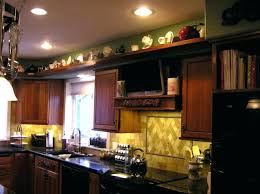 Top Of Kitchen Cabinet Decorating Ideas Soffit Above Kitchen Cabinets Image For Decor Kitchen