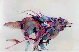 feather wolf design best designs