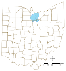 Ohio Rivers Map by Huron And Vermilion Rivers