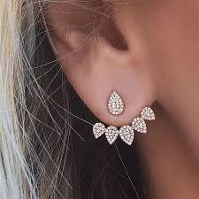 back earrings korean new front back sided stud earrings for women