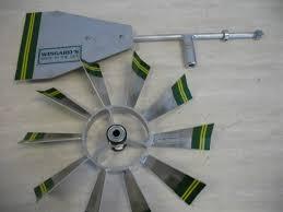 6 ft premium aluminum decorative garden windmill