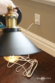 turn porch light into outlet how to convert hard wired light fixtures into a plug in remington