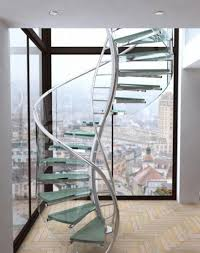 Home Interior Stairs Design Furniture Interior Lovely Glass Spiral Staircase With Floating