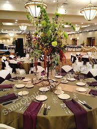 Event Decor Rental Fern Green Table Linens U0026 Eggplant Purple Satin Napkins By