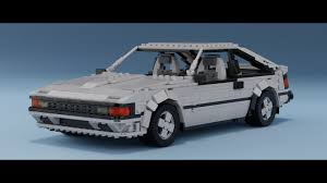 lego toyota lego toyota celica supra digital model timelapse part 1 youtube