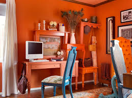 orange packed office hgtv