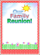 printable family reunion booklet flyers invitations banners iron
