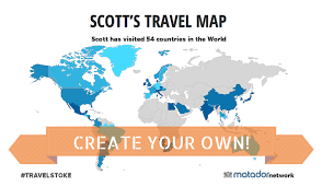countries visited map introducing the travelstoke map create yours today