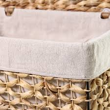basket home decor adeco multi purpose laundry basket with lid bt0016