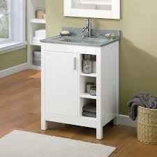 Allen Roth Bathroom Cabinets by Allen Roth Southbay Cove White Integral Bathroom Vanity With