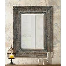 distressed wood wall rustic lodge mirrors ls plus