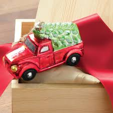 truck ornament all gifts olive cocoa