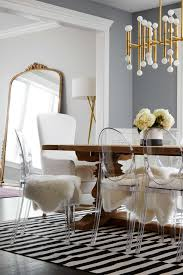 ghost chair dining room stylish intended other home design