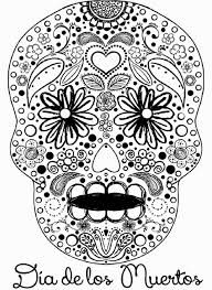 day of the dead pictures to color free coloring pages on art