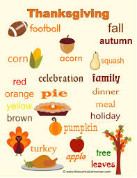 thanksgiving vocabulary words knowing the thanksgiving day about curious facts vocabulary