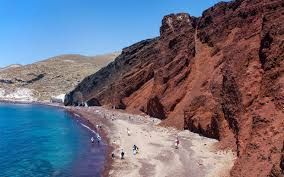 where is the black sand beach 7 of the world u0027s most beautiful red sand beaches travel leisure