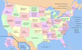 usa map map of usa with state names