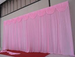 Curtains Wedding Decoration Good Quality 3x6m White Wedding Silk Backdrop Curtain Party