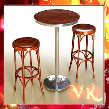 High Bar Table And Stools 3d Bar Table And Stool Cgtrader