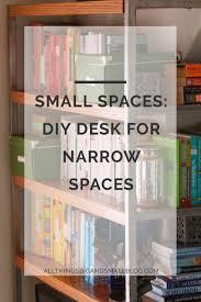 small spaces diy desk