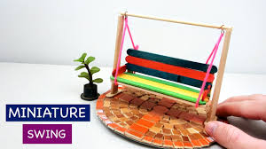 miniature swing for fairy garden 2 simple u0026 easy popsicle stick