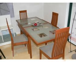 glass dining room furniture very practical expandable glass dining table
