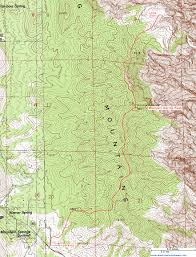 Map Of Zion National Park Topographic Map Of Mountain Spring Peak And Little Zion Red Rock