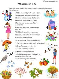 kids pages what season is it speech therapy ideas