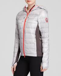 black friday canada goose canada goose hybridge light hooded jacket in gray lyst