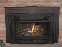 image of gas fireplace insert black