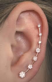 earring cuffs cz earring ear cuff minimalist ear pin ear climber ear