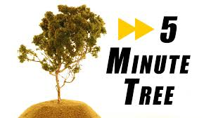 how does it take to make a realistic tree model railroad