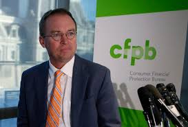 us consumer protection bureau mulvaney imposes freeze on hiring at consumer financial