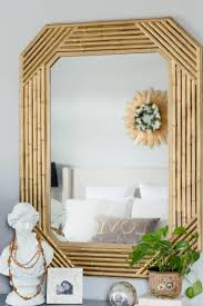 thrift store diy home decor 15 faux bamboo mirror makeover mirror makeover bamboo mirror