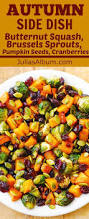 thanksgiving vegetarian recipes maple butternut squash roasted brussels sprouts pumpkin seeds