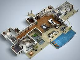 stunning idea 11 modern home plans 3d 25 more 3 bedroom floor