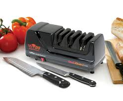how to sharpen kitchen knives at home chef u0027schoice model 1520 angleselect electric knife sharpener