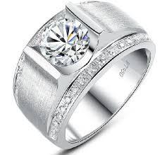 diamond men rings images 1carat 18k white gold round brilliant magnificent simulate diamond jpg