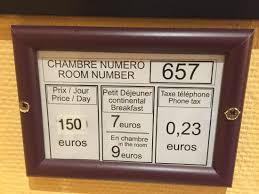 prix chambre hotel tarif affiché en chambre photo de grand hotel amelot