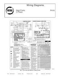 ph10 payne wiring diagrams for 3 phase heat pump ph10