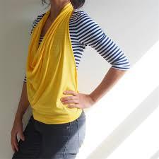 Draped Neckline Tops Wanderlust Drape Cowl Neck Halter Top Multi Way Convertible Design