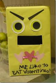 Monster Valentine Box Decorating Ideas by Valentines Mailbox Using A Gift Bag This Is Super Cute But