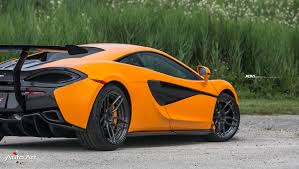 orange mclaren mclaren 570s adv005 m v2 super light concave wheels adv 1 wheels