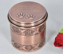 cat urn paws pet urn antique copper finish pet urns pet cremation urn
