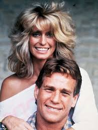 farrah fawcett hair color ryan o neal on his 18 year relationship with farrah fawcett pose