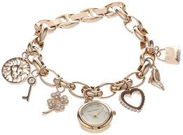 anne klein charm bracelet watches images Anne klein women 39 s 10 7604rgch rose gold tone and jpg