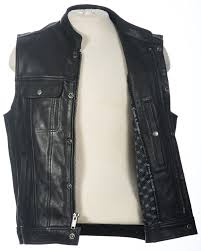 leather motorcycle jacket clean cut mc vest crank u0026 stroker