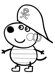 peppa pig coloring pages danny dog coloringstar