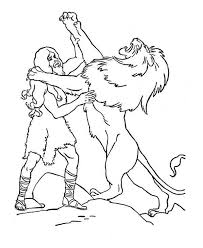 legendary fight samson lion coloring color luna