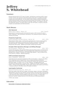 Tool And Die Maker Resume Examples Cnc Machinist Resume Samples Visualcv Resume Samples Database